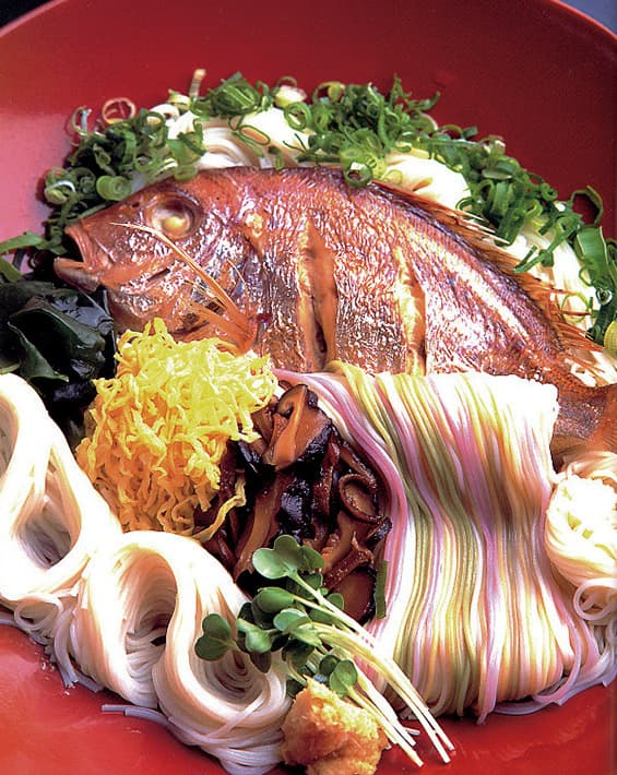 Sea bream noodles