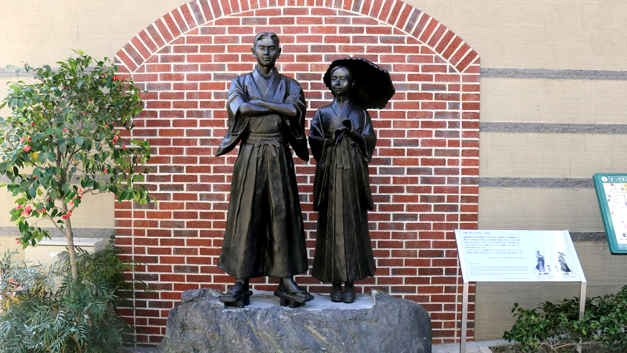 Statues of Botchan and Madonna